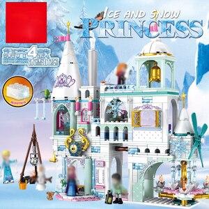Новые модели волшебного Ледяного Замка Эльзы и Анны, строительные блоки, Замок принцессы Золушки, совместимые с друзьями