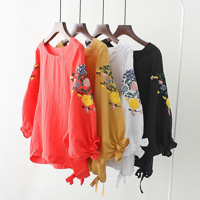 Floral Embroidery Tops 5