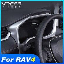 Vtear Dành Cho Xe Toyota RAV4 Phụ Kiện 2019 2020 2121 Bảng Điều Khiển Xe Trang Trí Khung Vỏ ABS Chrome Nội Thất Sửa Đổi Phần