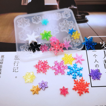 New Transparent Silicone Mould Dried Flower Resin Decorative Craft DIY Square snowflake Mold epoxy resin molds for jewelry 2019 new multi function storage mobile phone holder pen holder silicone clay mould epoxy resin decorative craft diy clay molds