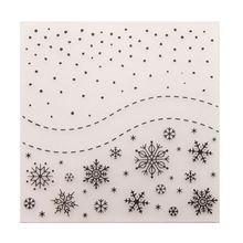 Снежинка пластиковая папка для тиснения шаблон DIY скрапбук Фотоальбом Карта сделать 517E