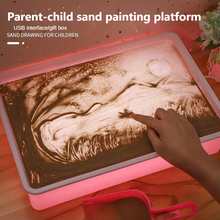 Parent-child sand painting table children's educational early education DIY handmade painting toys boys and girls