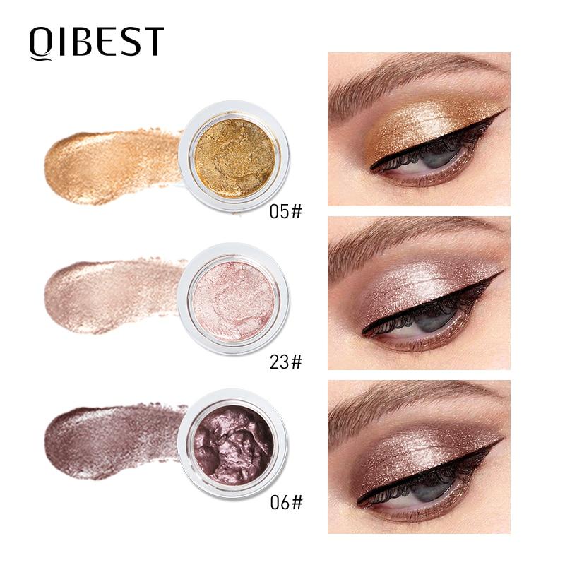 QIBEST Metallic Shimmer Eyeshadow Cream 25Colors Jelly Makeup Palette Glitter Monochrome Eye Shadow Pallete Makeup Cosmetics 1