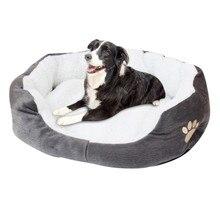 Серый овчина питомник собака щенок кошка флис теплая кровать комната плюшевый удобный гнездовой коврик теплый и прочный оборудование для питомцев 2