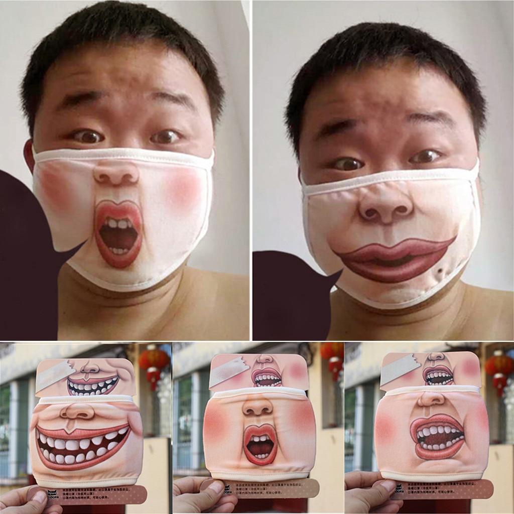 Unisex Men Women Face Mask Washable Funny Animal Cotton Anti Dust Mask Anti-ultraviolet Mask