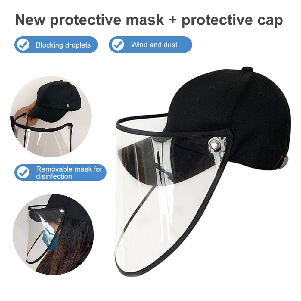 Anti-fog Saliva Protective Cap Anti-virus Baseball Cap Face Mask Sun Protection Hat