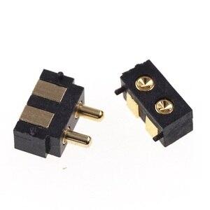 Image 4 - 50 шт. пружинный разъем Pogo pin, 2 контактный прямоугольный поверхностный монтаж SMD полоса, штекер, гнездо, вогнутый SMT шаг 2,5 мм