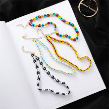 Flowers Choker Bohemian Handmade Rainbow Beads Necklace Bead Satellite Women Fashion Jewelry