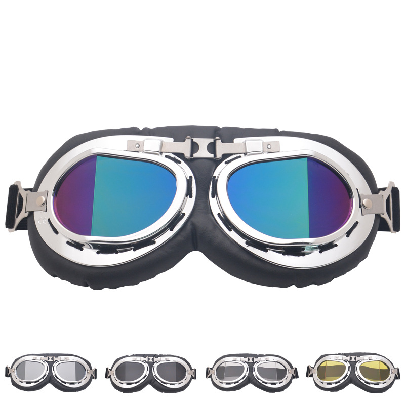 Hot Sales Retro Break Angle Harley Goggles Motorcycle Off-road Goggles Bicycle Glass Sports Riding Eye-protection Goggles