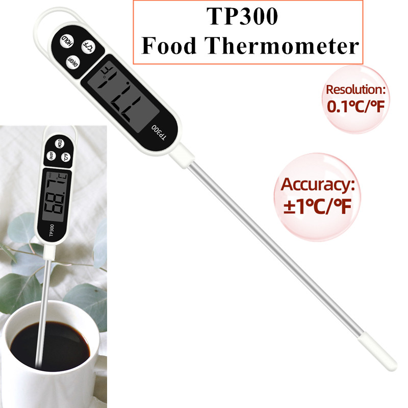 TP300 Food Thermometer Kitchen Thermometer For Meat Water Milk Cooking Food Probe BBQ Electronic Oven Thermometer Kitchen Tools