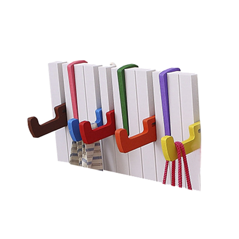 Piano Keyboard Design Hanger Colorful Creative Scarf Hat Rack Key Holder Wall Mounted Coat Rack