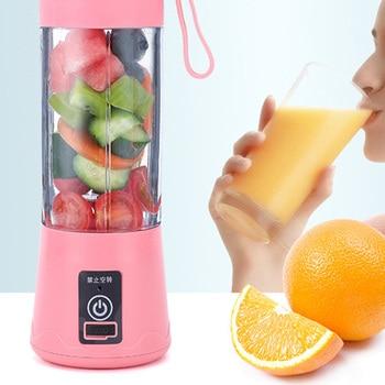 цена на Portable USB Electric Juicer 380ML Fruit Juice Maker Blender Machine Rechargeable Household Juicer Sport Bottle Juice Cup
