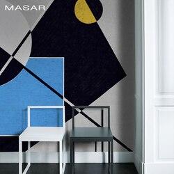 MASAR Creatieve persoonlijkheid geometrische custom muurschildering kleur collage slaapkamer bed woonkamer sofa achtergrond muur behang