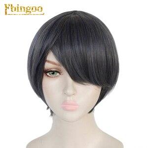 Image 5 - Ebingoo noir Butler kuroshisuji Ciel fantôme ruche perruque longue Double queue de cheval gris synthétique Coplay perruque pour les femmes
