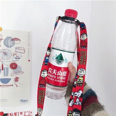 Portable Water Bottle Shoulder Strap Bottle Rope Beverage Holder Buckle Lanyard