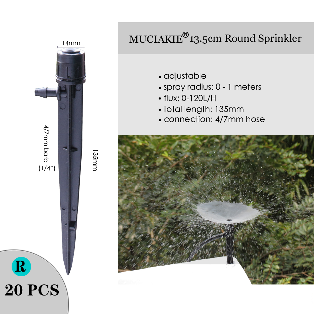 H3ac9abc57682418e876775a97d7b6418b MUCIAKIE Variety Style Adjustable Irrigation Sprinkler Garden Emitters Stake Dripper Micro Spray Rotating Nozzle Watering Arrow