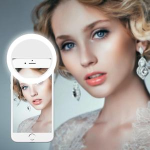 Phone LED Selfie Ring Novelty Light Ring Clip for Smartphone Self beauty photo camera For Cell Phone Photo Beauty Fill Lighting