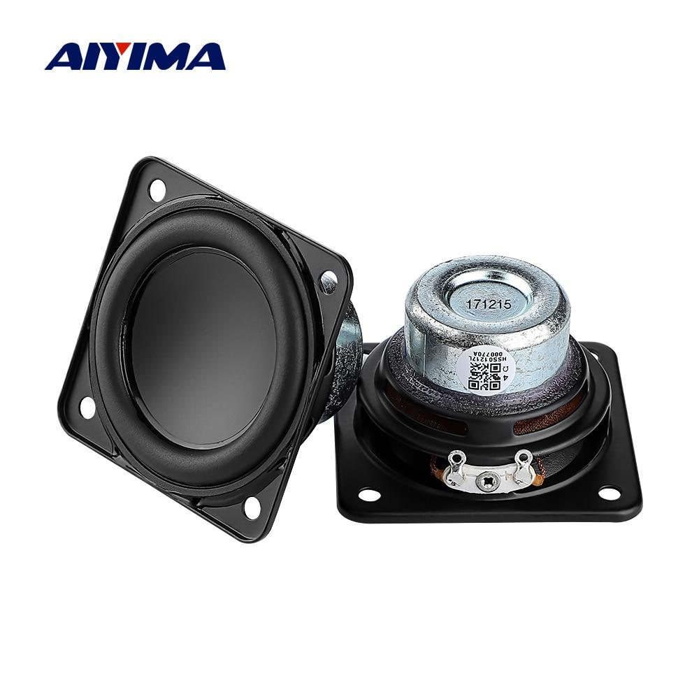 2-дюймовый Полнодиапазонный аудиодинамик AIYIMA, 2 шт., 52 мм, 4 Ом, 20 Вт, Hi-Fi стерео громкоговоритель, «сделай сам», Bluetooth, домашний усилитель, динам...
