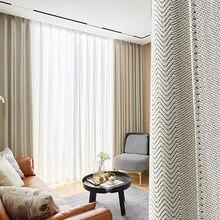 O novo jane europeu de luxo moda minimalista moderno escandinavo luz sala estar quarto cortinas