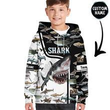 Толстовки с 3d принтом love shark детский пуловер именем на
