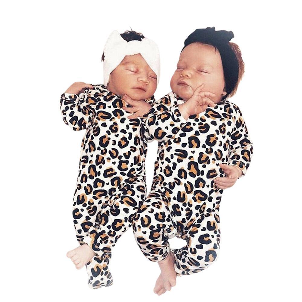 0-3 Months Baby Girl Newborn New Born Leopard Print Romper Jumpsuit Recien Nacido Neonato Recem Nascido Infantil Menina Clothes