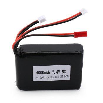 2019 7,4 V 8C 4000mAh RC transmisor de batería recargable, transmisor, batería Lipo para Spektrum DX9 DX8 DX7 DX6E transmisor
