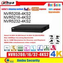 Dahua NVR 4K NVR5208 4KS2 NVR5216 4KS2 NVR5232 4KS2 최대 12Mp H.265 8/16/32 채널 얼굴 탐지 Tripwire 침입 DVR IVS