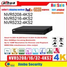 Dahua NVR 4K NVR5208 4KS2 NVR5216 4KS2 NVR5232 4KS2 do 12Mp H.265 8/16/32 kanał wykrywanie twarzy Tripwire intruzja DVR IVS