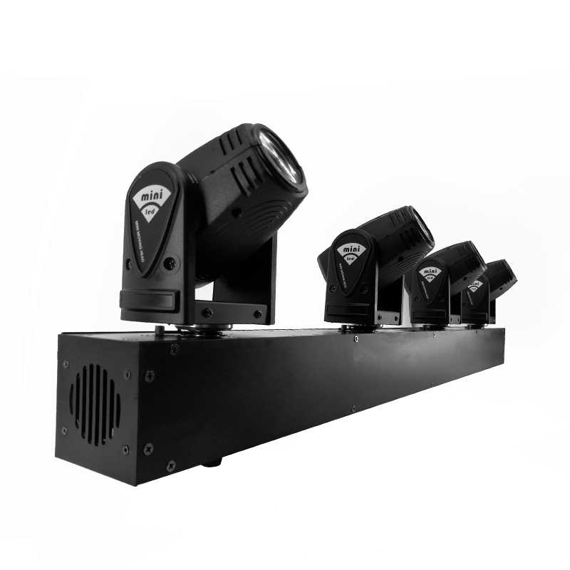 4X10 W Head LED Beam Moving Head Lampu Bar DJ Lampu shehds Panggung Mini 10W RGBW 4in1 Beam Efek Lyre