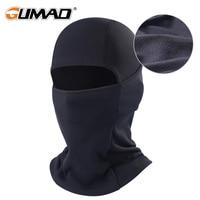 Black Winter Fleece Balaclava Full Face Mask Thermal Warmer Cycling Hood Liner Sports Ski Bike Riding Snowboard Shield Hat Cap|Cycling Face Mask| |  -