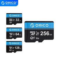 ORICO-tarjeta de memoria Micro TF/SD 256GB, 128GB, 64GB, 32GB, MicroSD Max 80 M/s, mini tarjeta TF con adaptador de tarjeta SD