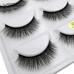 Image 5 - 50 Boxes eyelashes wholesale mink strip lashes natural 3d mink eyelashes faux cils eyelashes maquiagem fluffy false eyelashes G8