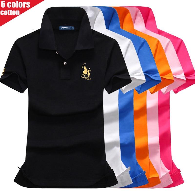 High Quality Summer New Lady Short Sleeve Polo Shirts Big Horse Casual Women Lapel Polos Shirts Cotton Women Fashion Slim Tops