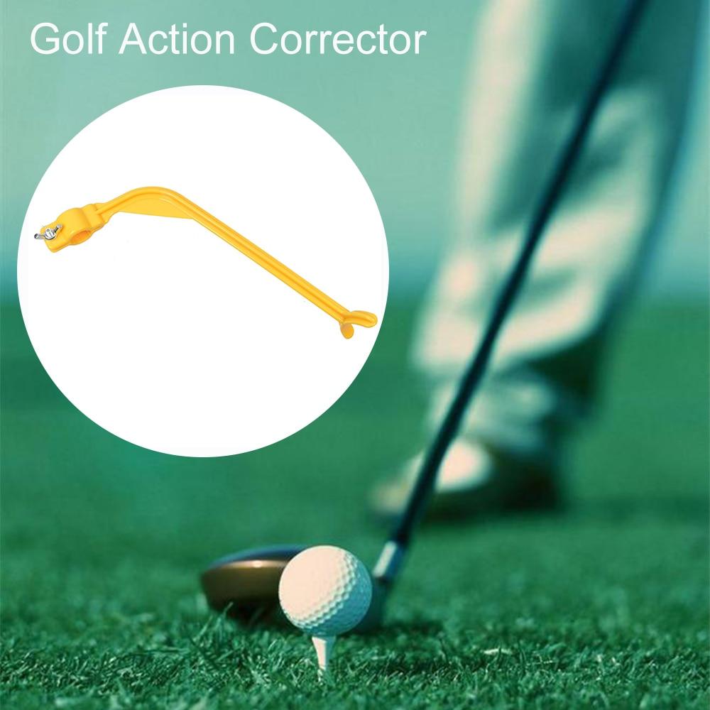 Купить с кэшбэком 1PC Golf Swing Trainer Beginner Gesture Alignment Training Aid Aids Correct Practical Practicing Guide Golf Swing Trainer Apr18