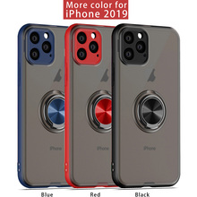 For iphone 11 Case Transparent cover for iPhone 11 Pro XR  6 7 8 plus matte phone case xsMax With Ring Stand Magnet Protective стоимость