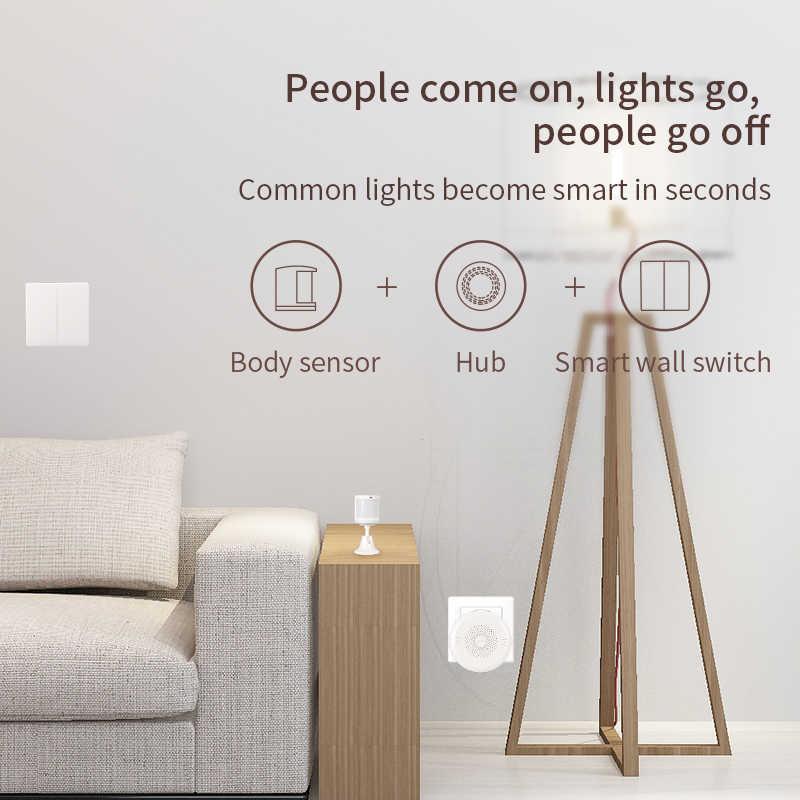 Aqara İnsan vücudu sensörü Mijia akıllı ev vücut hareketi hareket sensörü Zigbee bağlantı için çalışmak Homekit Mi ev App