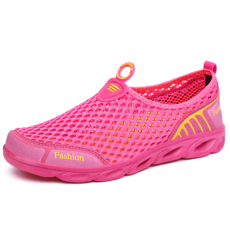 Summer Ladies Outdoor Shoes Ladies Lightweight Breathable Mesh Flow Beach Quick-drying Water Upstream Fishing Net Water Shoes