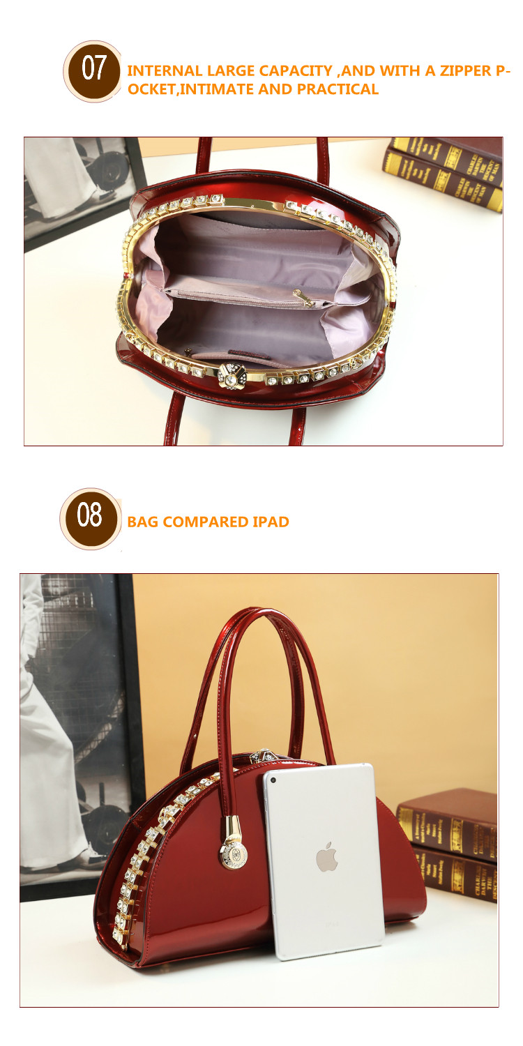 famosa marca lady red wedding clutch shell mensageiro tote