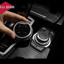 Oryginalny samochód pokrywa przycisków multimedialnych iDrive naklejki do BMW 1 3 5 7 serii X1 X3 F25 X5 F15 X6 16 F30 F10 F07 E90 F11 E70 E71