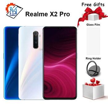 Перейти на Алиэкспресс и купить Оригинал Realme X2 Pro мобильный телефон 6,5 Дюймов 90 Гц жидкий экран 6 ГБ + 64 ГБ Snapdragon 855 Plus камера 64.0MP NFC Смартфон