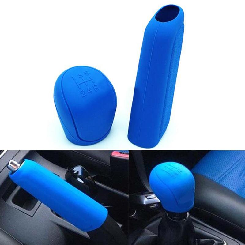 Glove Cover-Head Handbrake-Sleeve Gear Shift Universal Silicone Collars Car Knob 2pcs