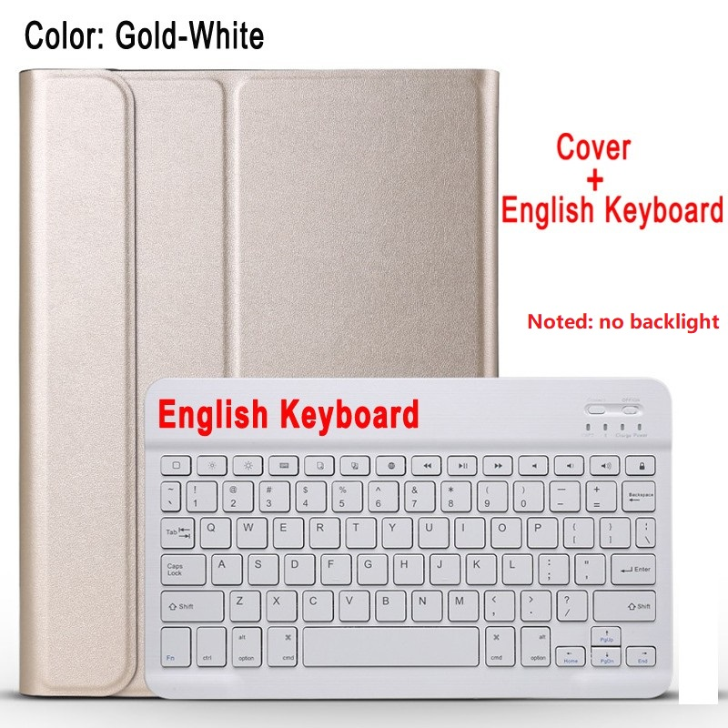 gold with white White For IPad 10 2 8 7 Generation 8th 2020 Case A2200 A2198 A2232 Slim Magnetic Bluetooth