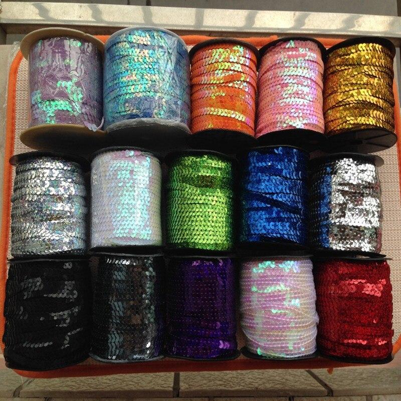 costura artesanía decoración Lentejuelas recortar 6 mm ronda spangle cadena