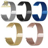 Aimant Milan maille bracelet en acier inoxydable bracelet de montre mince 12 14 15 16 18 20 22mm bracelet de montre en métal bracelet de montre