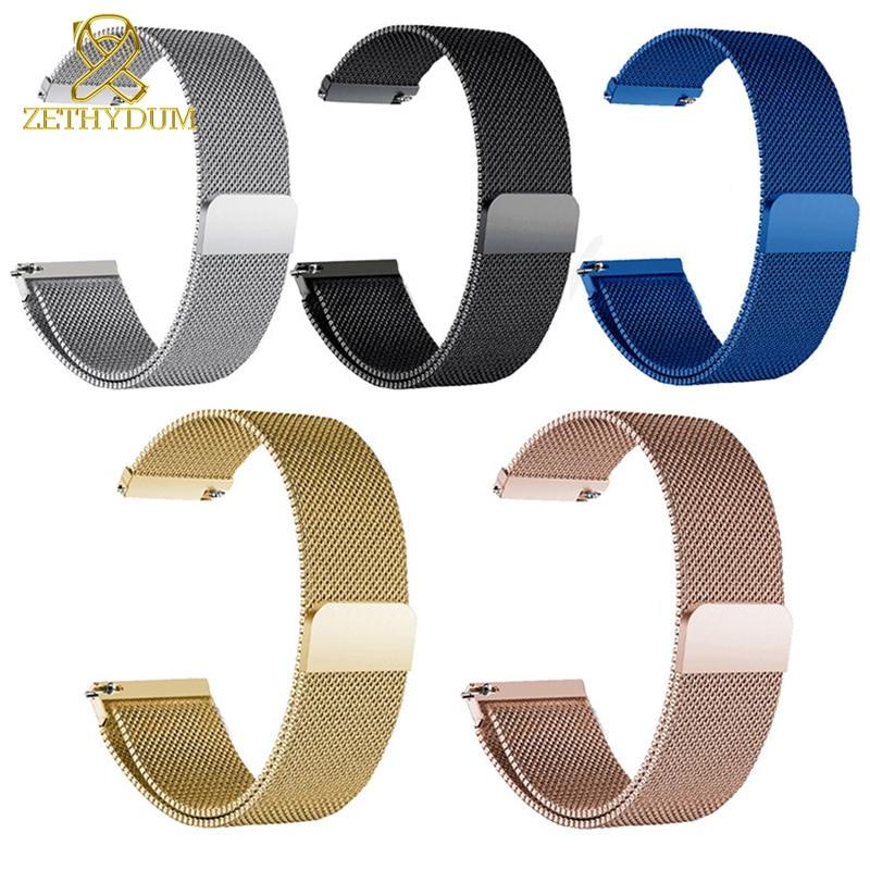 Magnet Milan Mesh Stainless Steel Bracelet Thin Watch Strap 12 14 15 16 18 20 22mm Watch Belt Metal Watchband Wristwatches Band