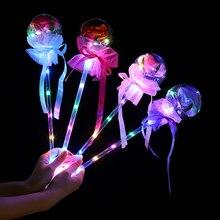 Boule lumineuse en forme de ballon, couleur Rose, romantique, décoration pour fête d'anniversaire, pour la saint-valentin, cadeau pour enfants, LED