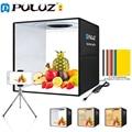 PULUZ 40 см Портативный для съемок в фотостудии кольцо светодиодный фото освещение Lightbox Рабочий стол в форме палатки для студийной фотосъемки ...