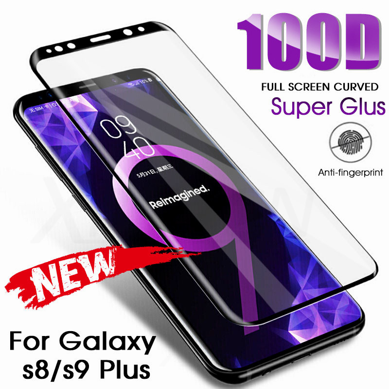 Tempered-Glass Protection-Film Curved 8-Screen-Protector S6-Edge Full-Cover S9-Plus Samsung S7