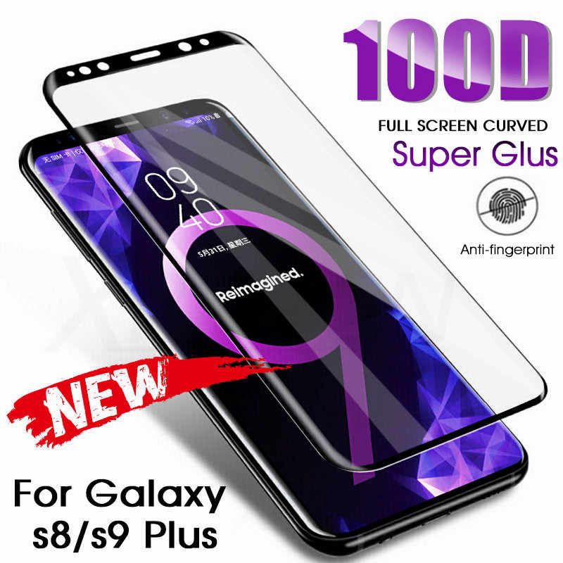 100D Curved Full Cover Tempered Glass For Samsung Galaxy S8 S9 Plus Note 9 8 Screen Protector Samsung S7 S6 Edge Protection Film