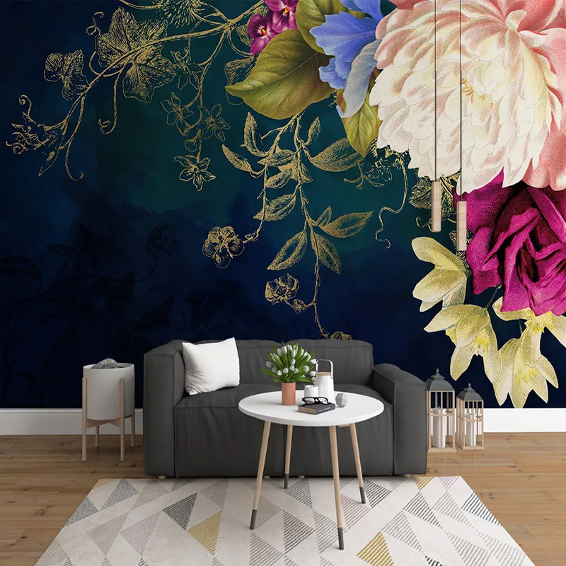 Photo Wallpaper Retro Flower Roses 3D Wall Murals Living Room TV Sofa Bedroom Pastoral Style Home Decor Wall Painting Art Fresco